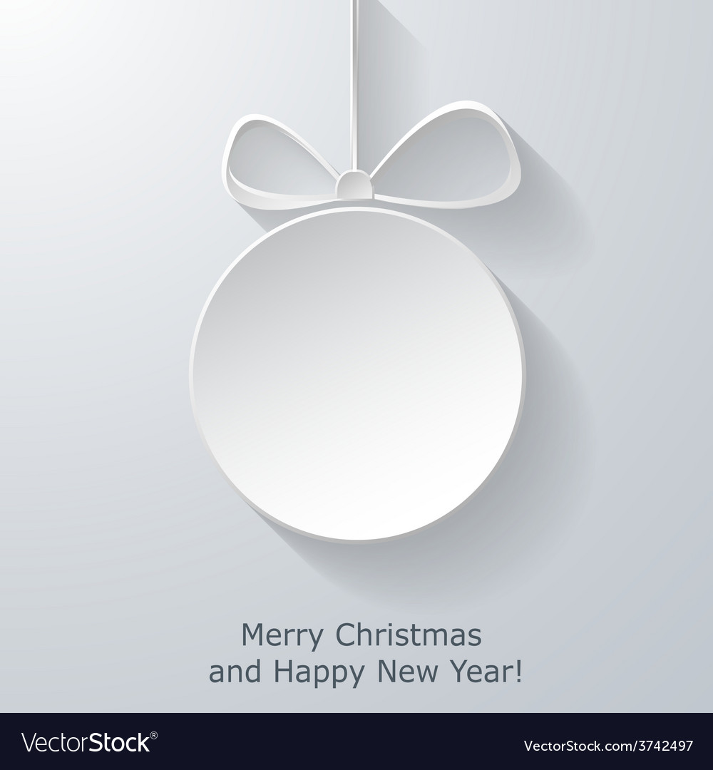 Xmas greeting card with abstract paper christmas vector