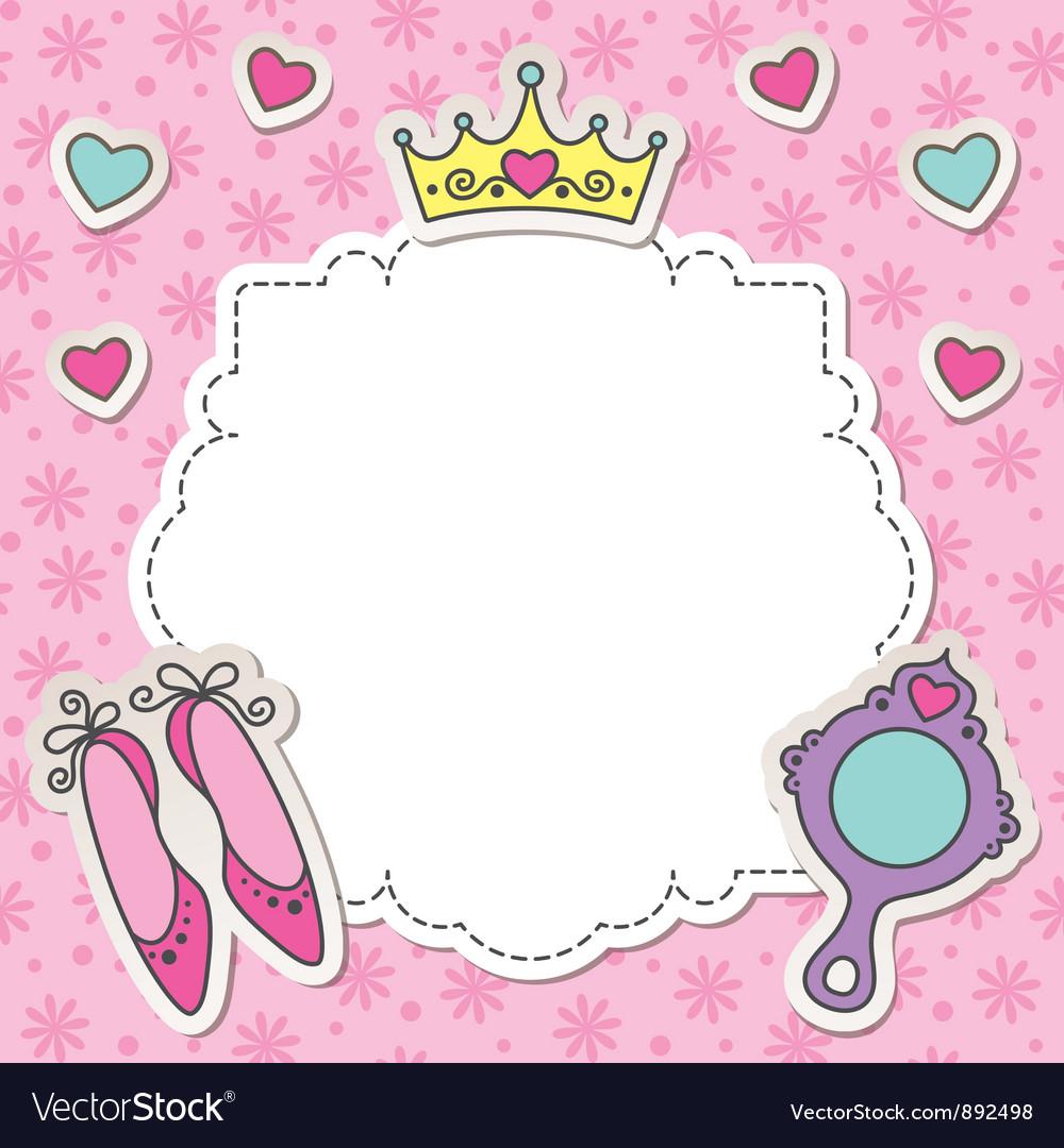 Princess frame vector