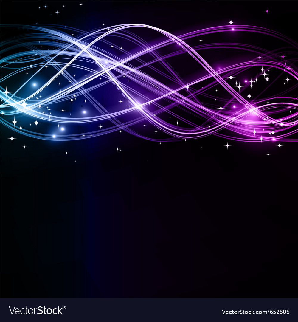 Abstract wavy patterns with stars vector