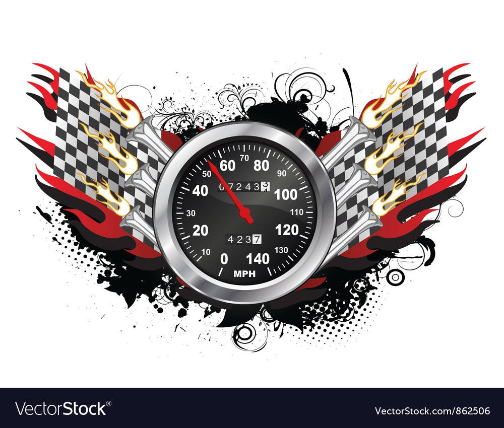Speedometer emblem vector