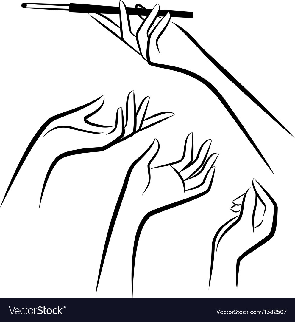 Vintage womens hands vector by Pugovica88 - Image #1382507 ...