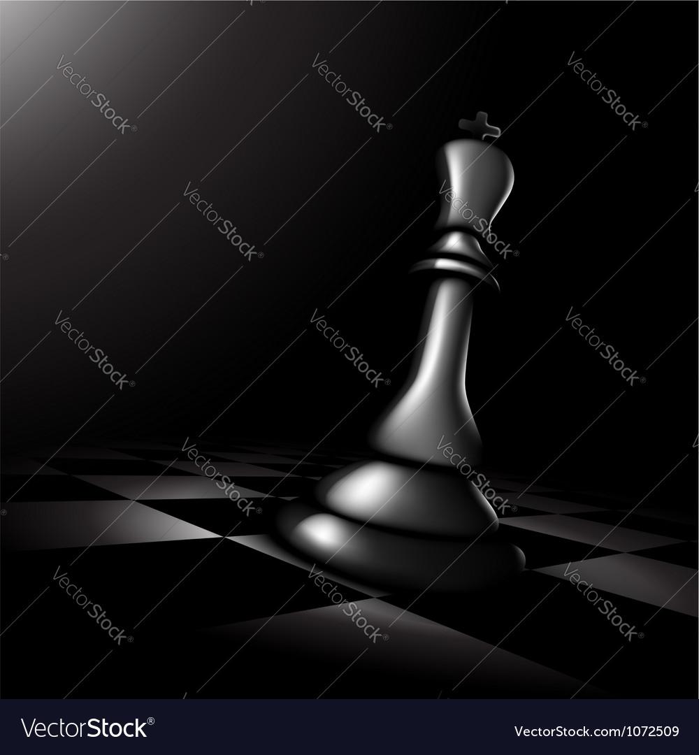 Chess king vector