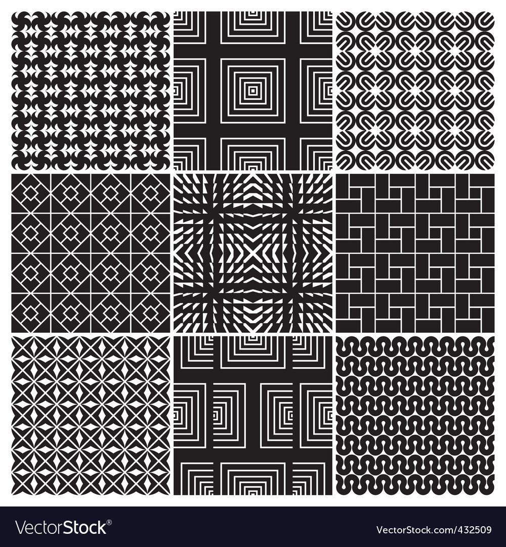 Monochrome patterns vector