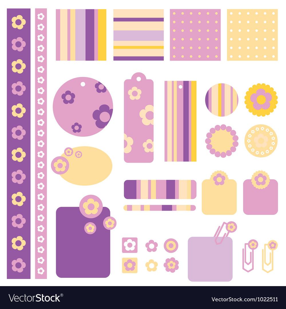 Floral decorative design element vector