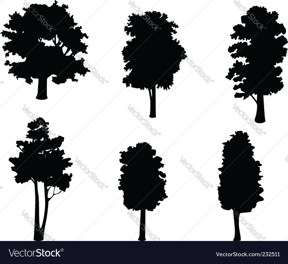 Trees Silhouette Vector – images free download