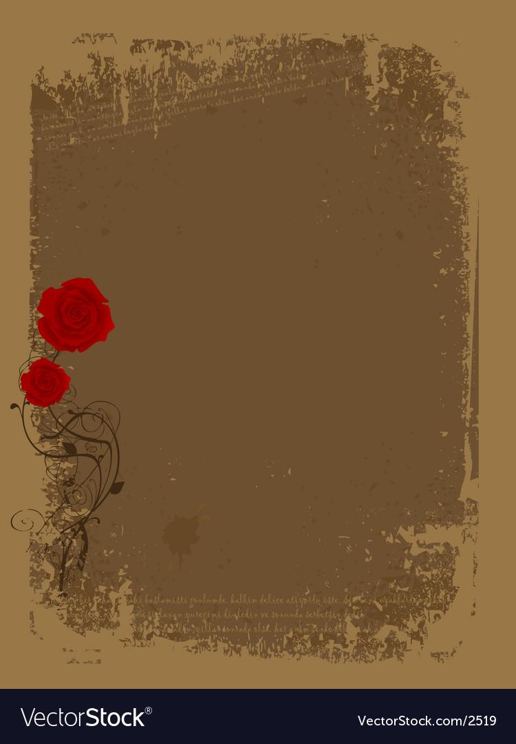 Rose grunge vector