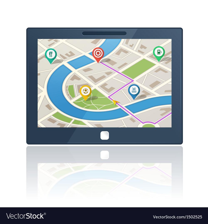 Gps navigation device vector