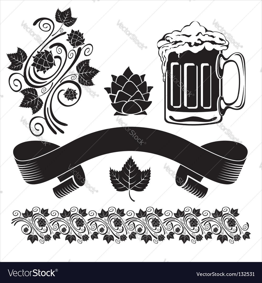 Beer design elements vector
