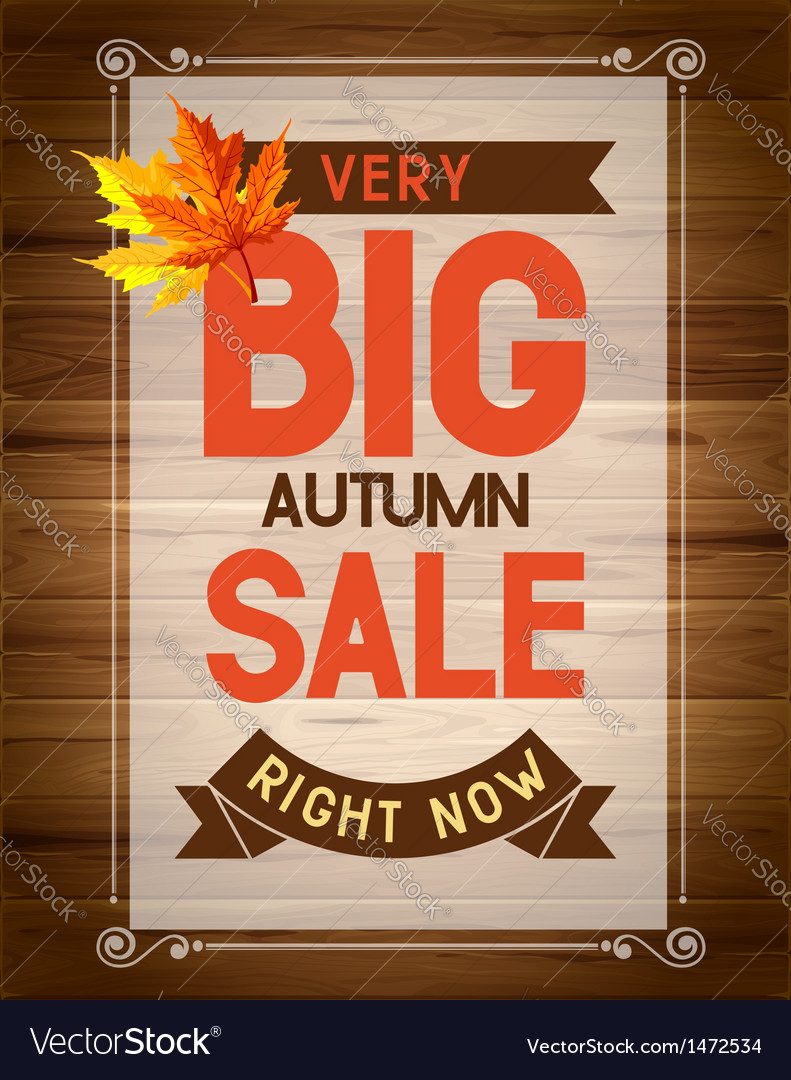 Autumn sale vector