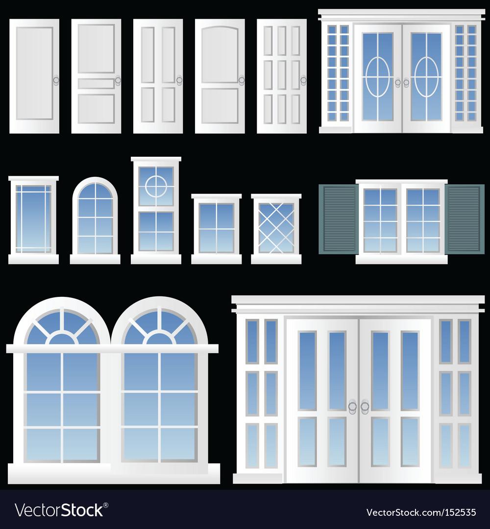 Window and door vector