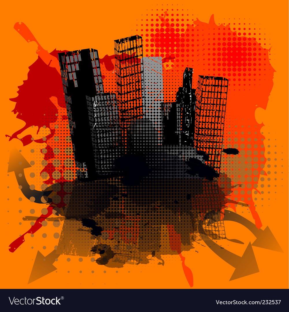 Grunge urban concept vector