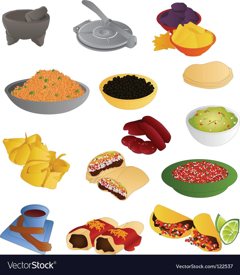 Latin american food vector