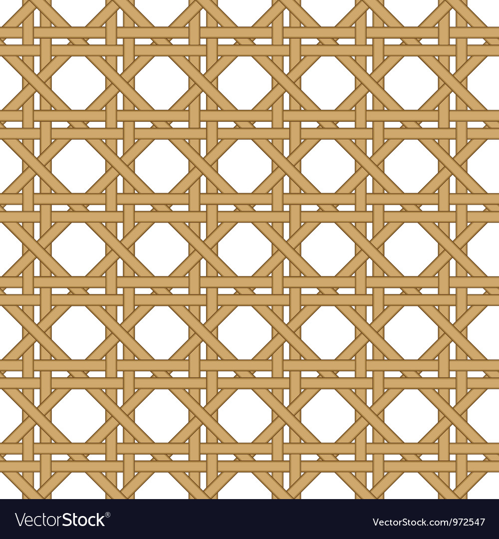 Seamless wicker woven texture background vector