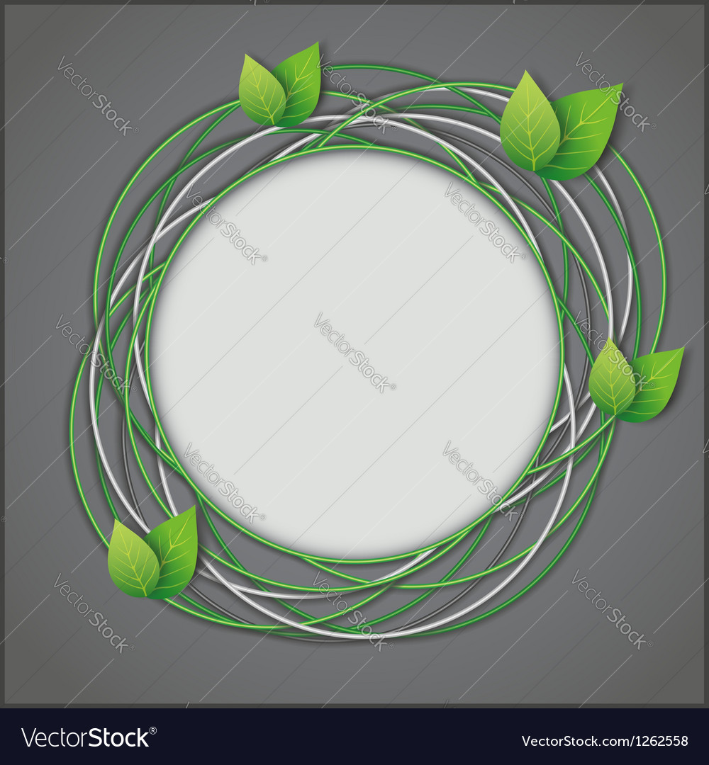 Abstract eco creative background vector