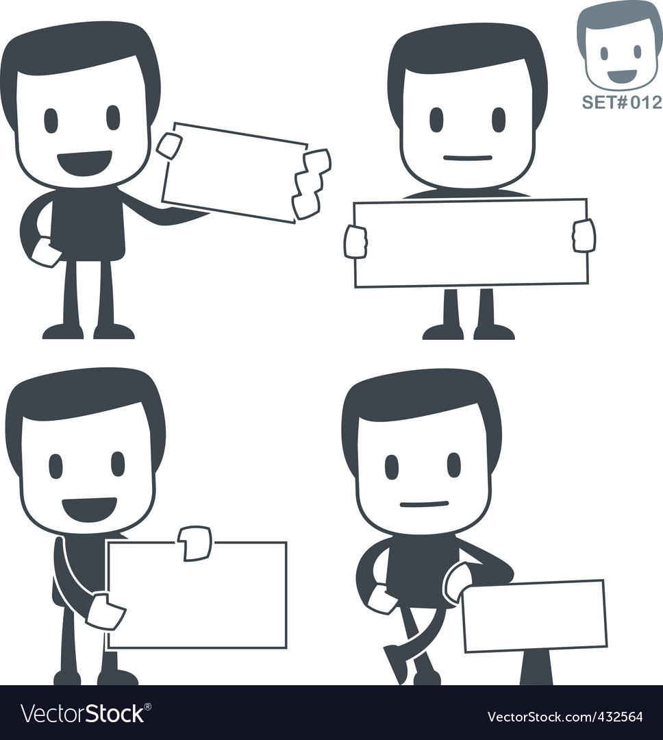 Cutaway icon man vector