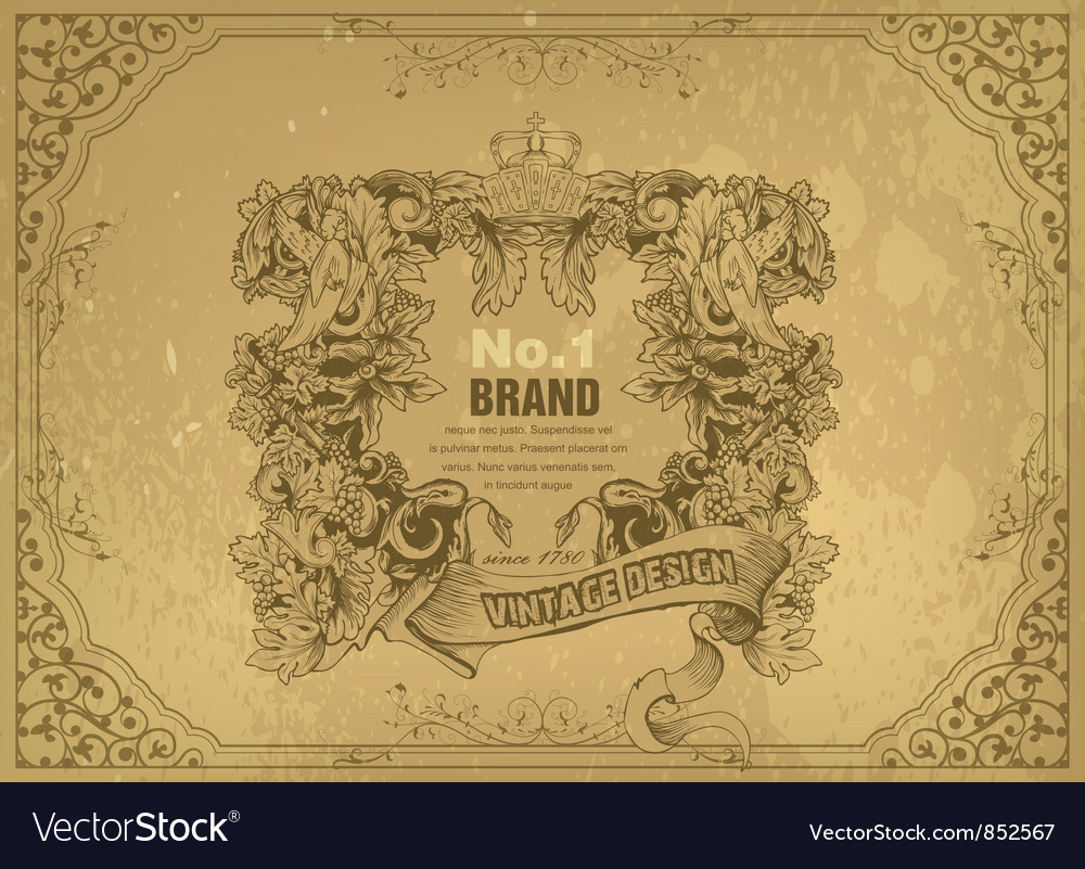 Grunge vintage label vector