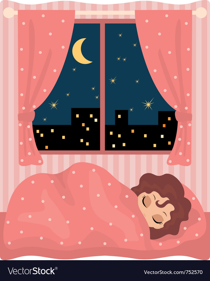 Pretty girl sleeps vector