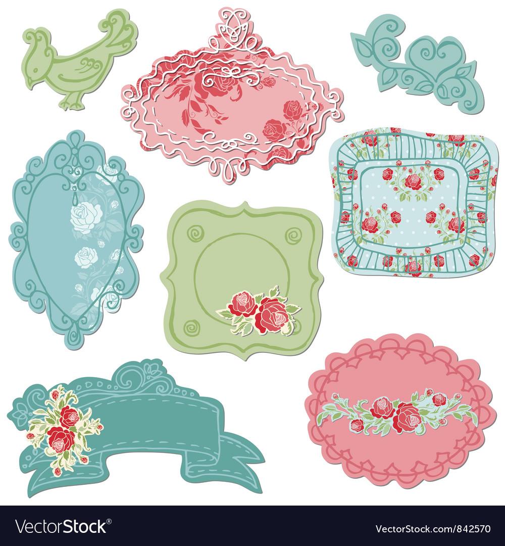 Sweet doodle frames vector