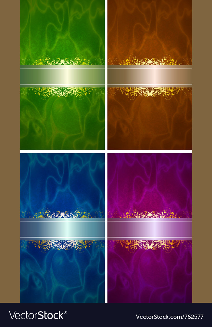 Luxery label set vector