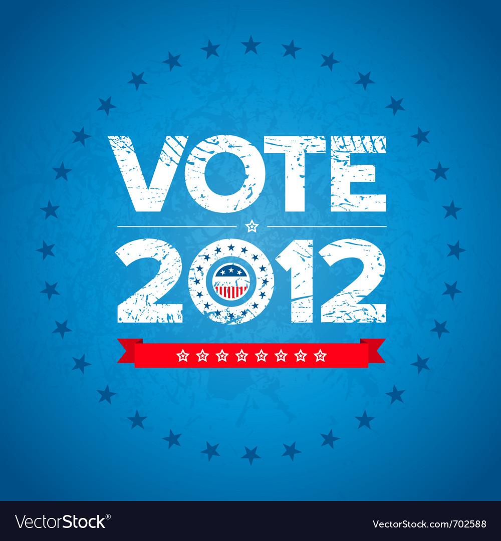 Vote 2012 background vector