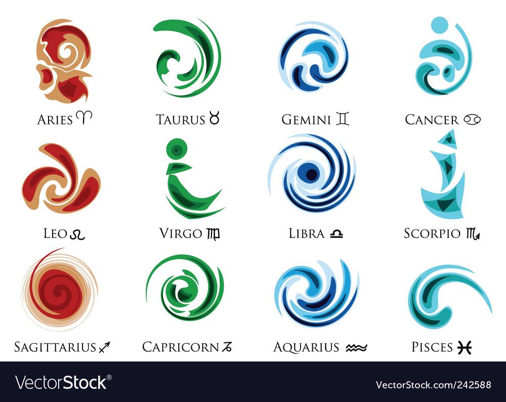 Zodiac signs vector by svetlin - Image #242588 - VectorStock