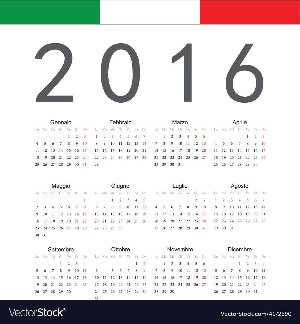 Italian square calendar 2016 vector by julvil - Image #4172590 ...