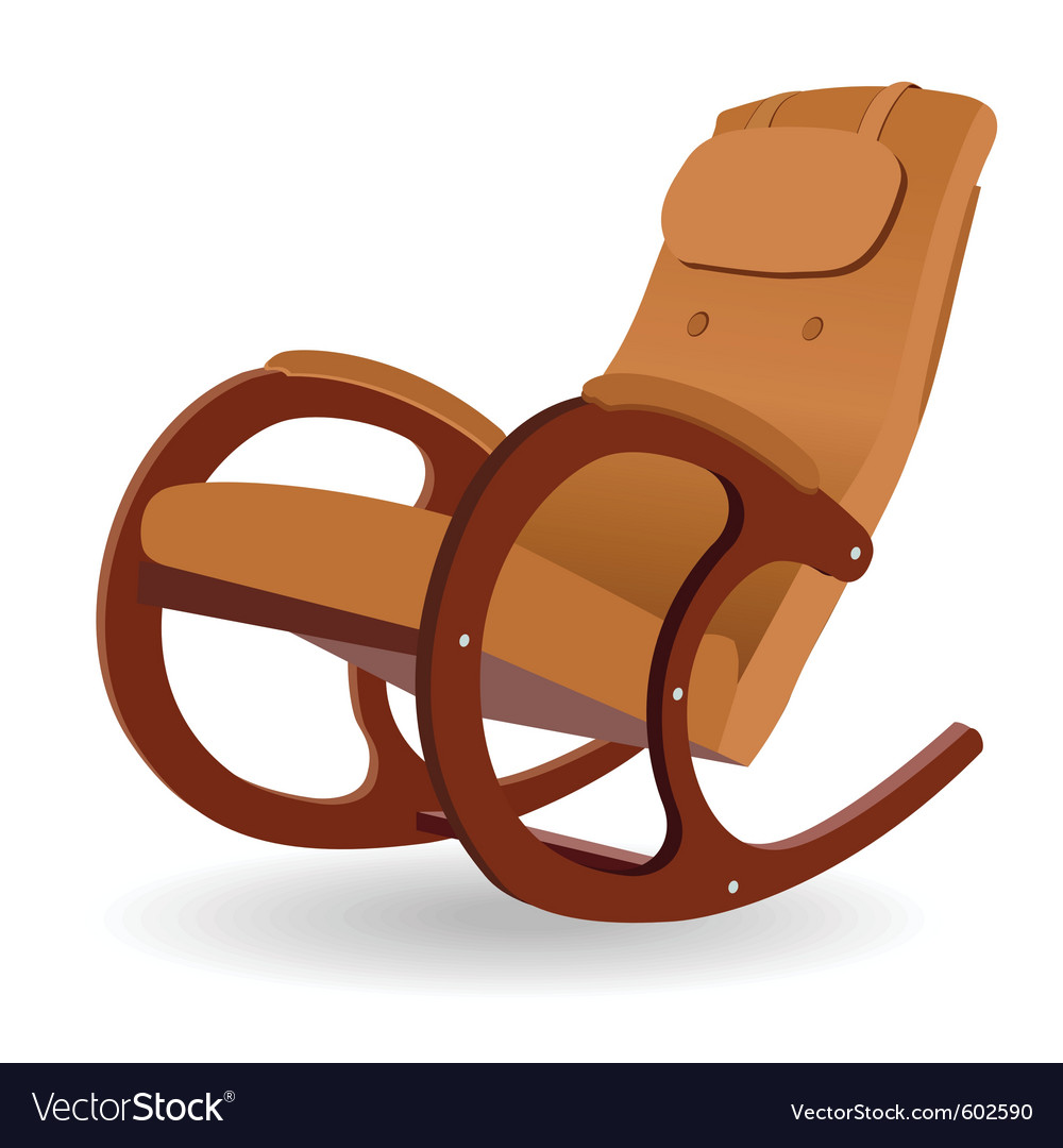 Wooden rocking chair vector art - Download Chair vectors - 602590