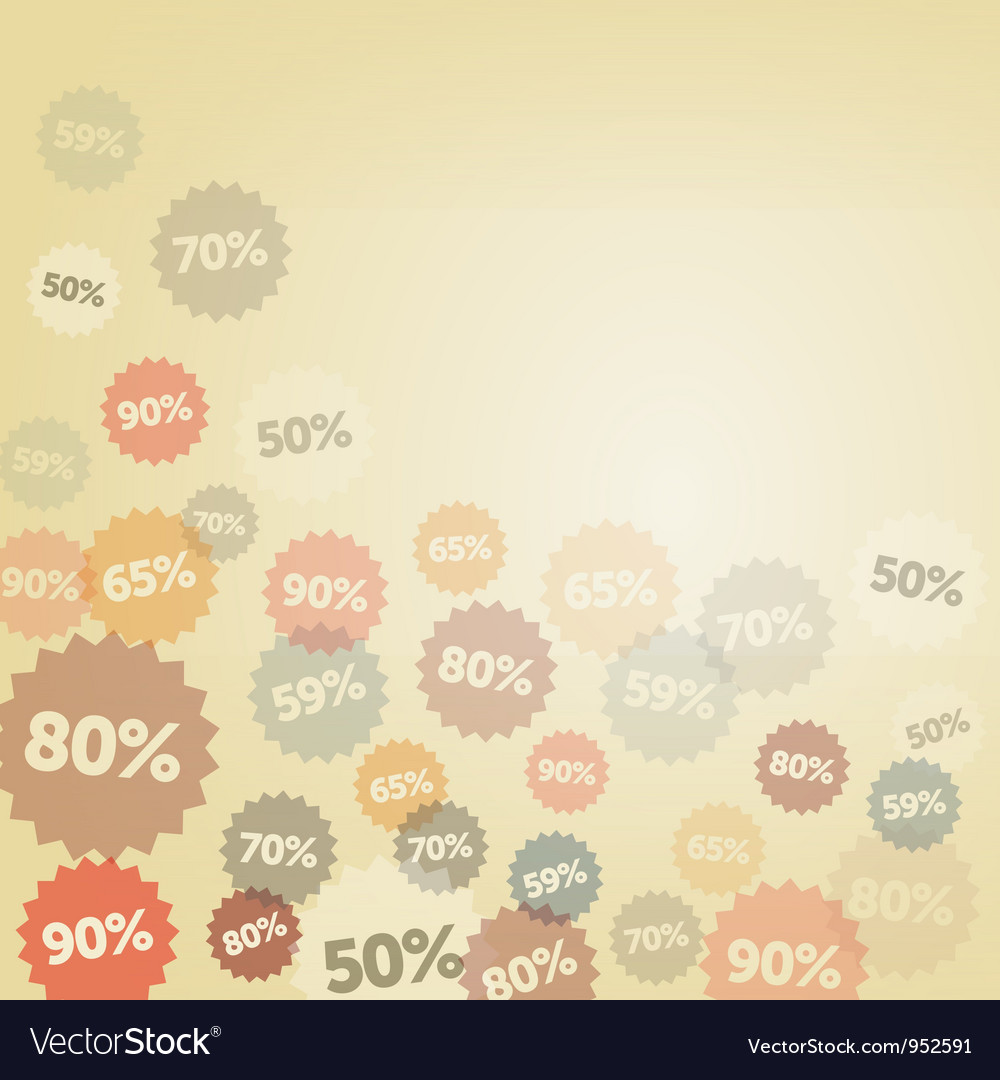 Yellow discount background vector