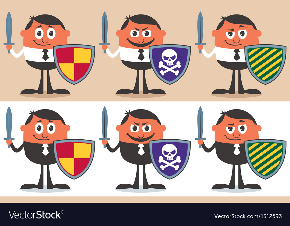 Business warrior vector