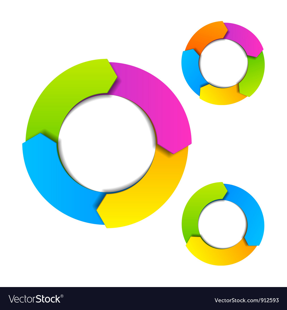Circle diagram vector