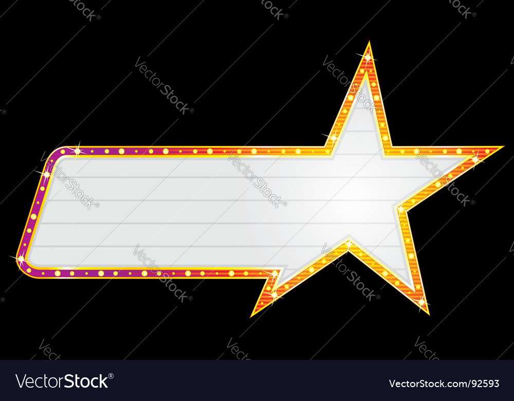 Star shape neon vector