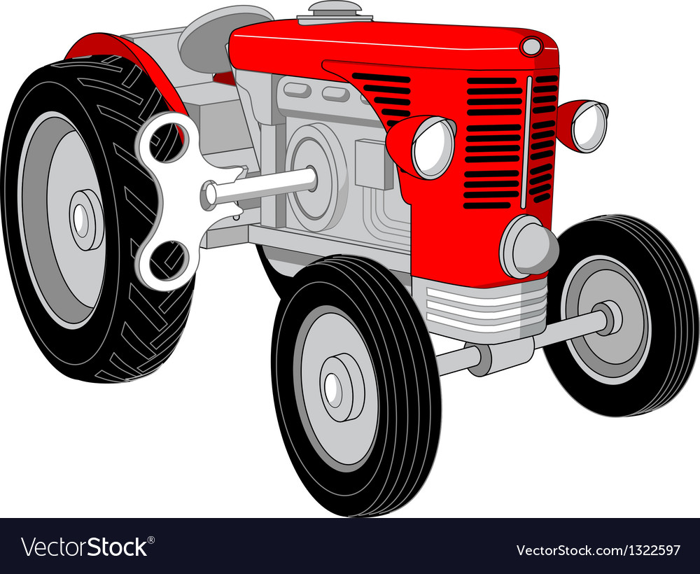Toy tractor vector