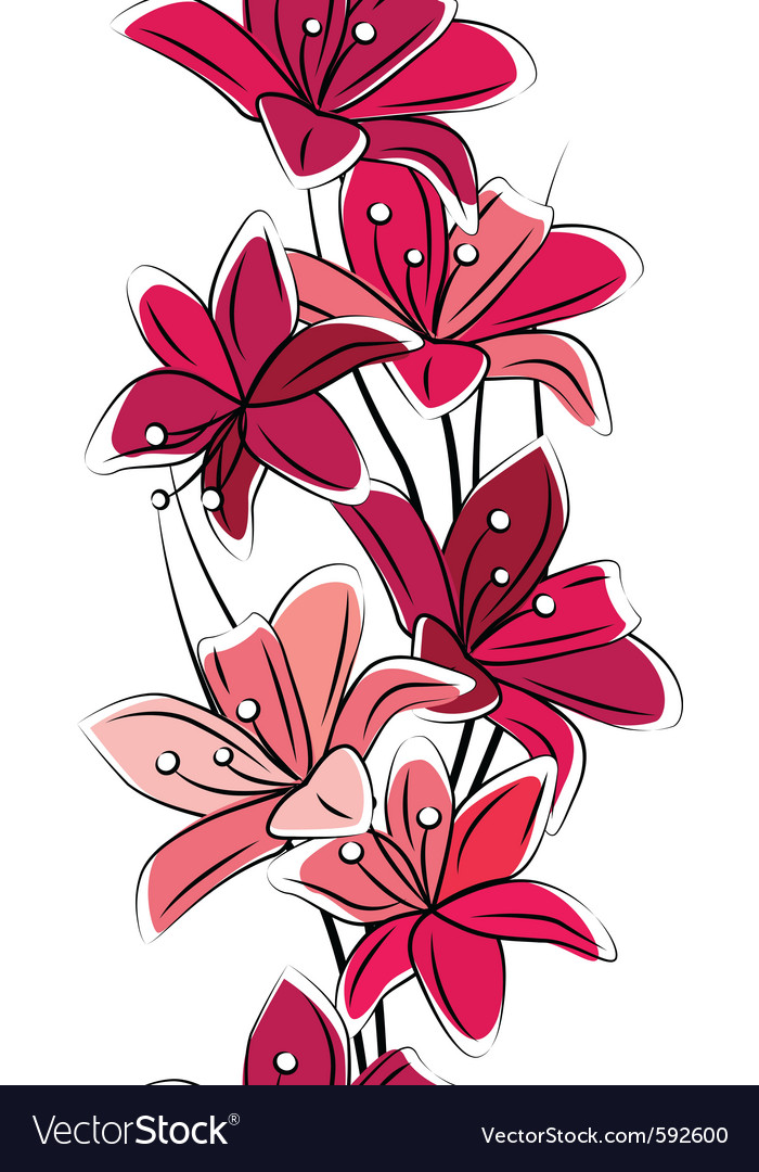 Seamless tulips vector