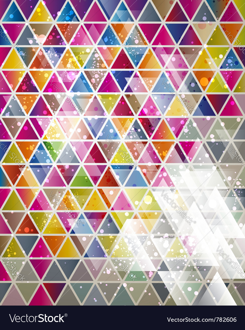 Background with triangle pattern vector