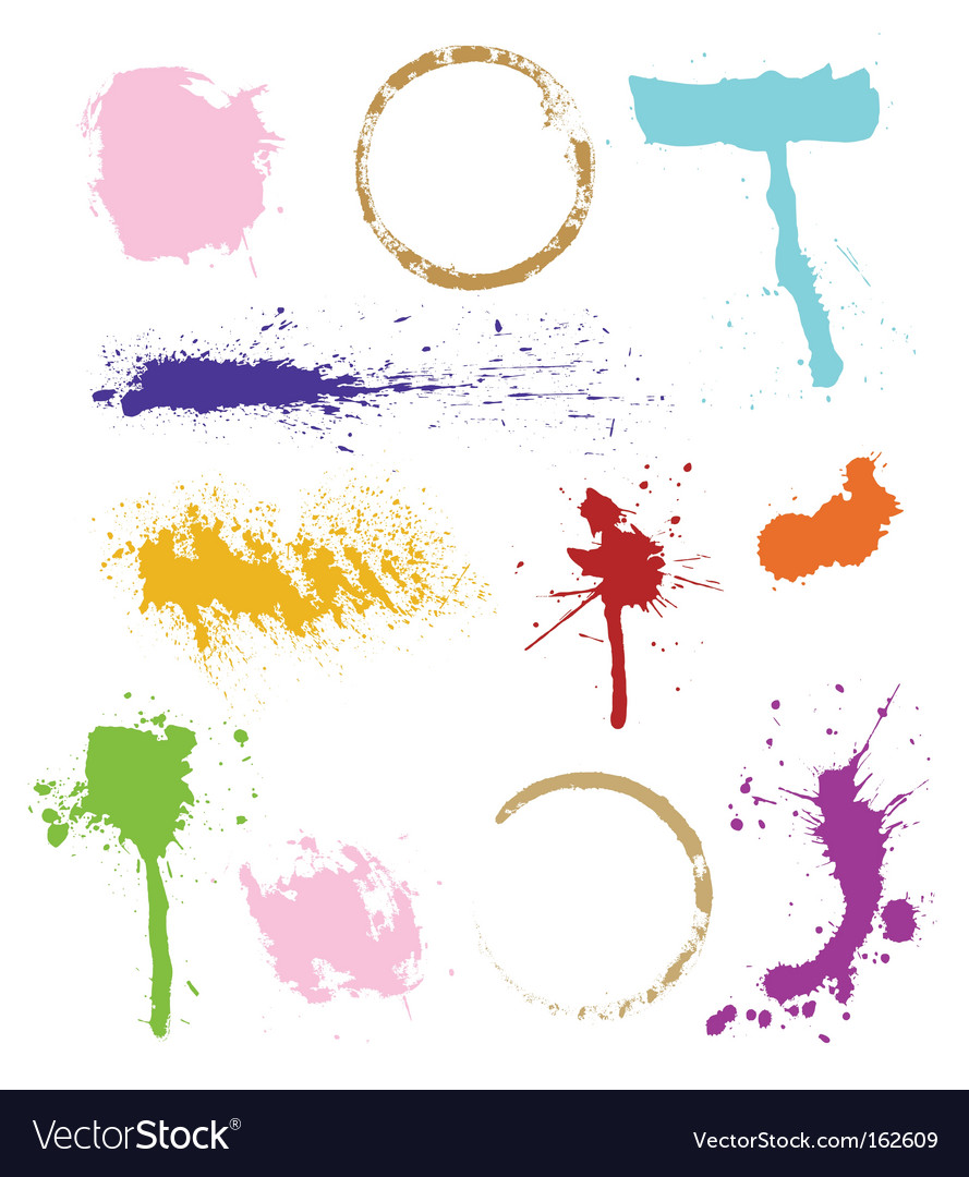 Colorful stains vector