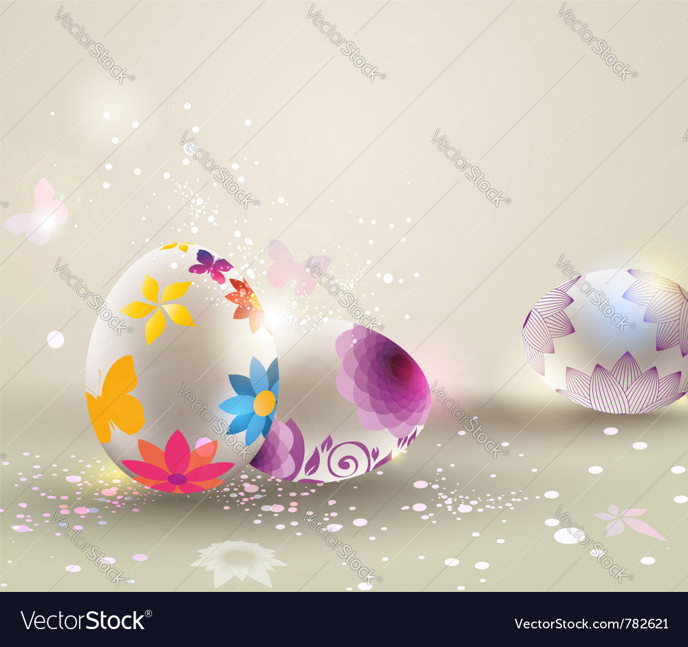 Easter light background vector