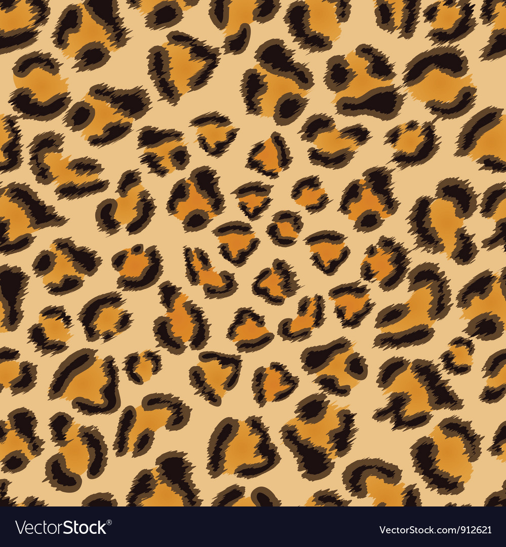 Leopard seamless pattern vector