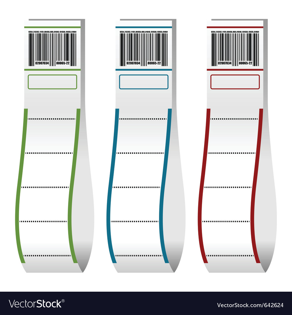 Luggage tags with barcodes vector