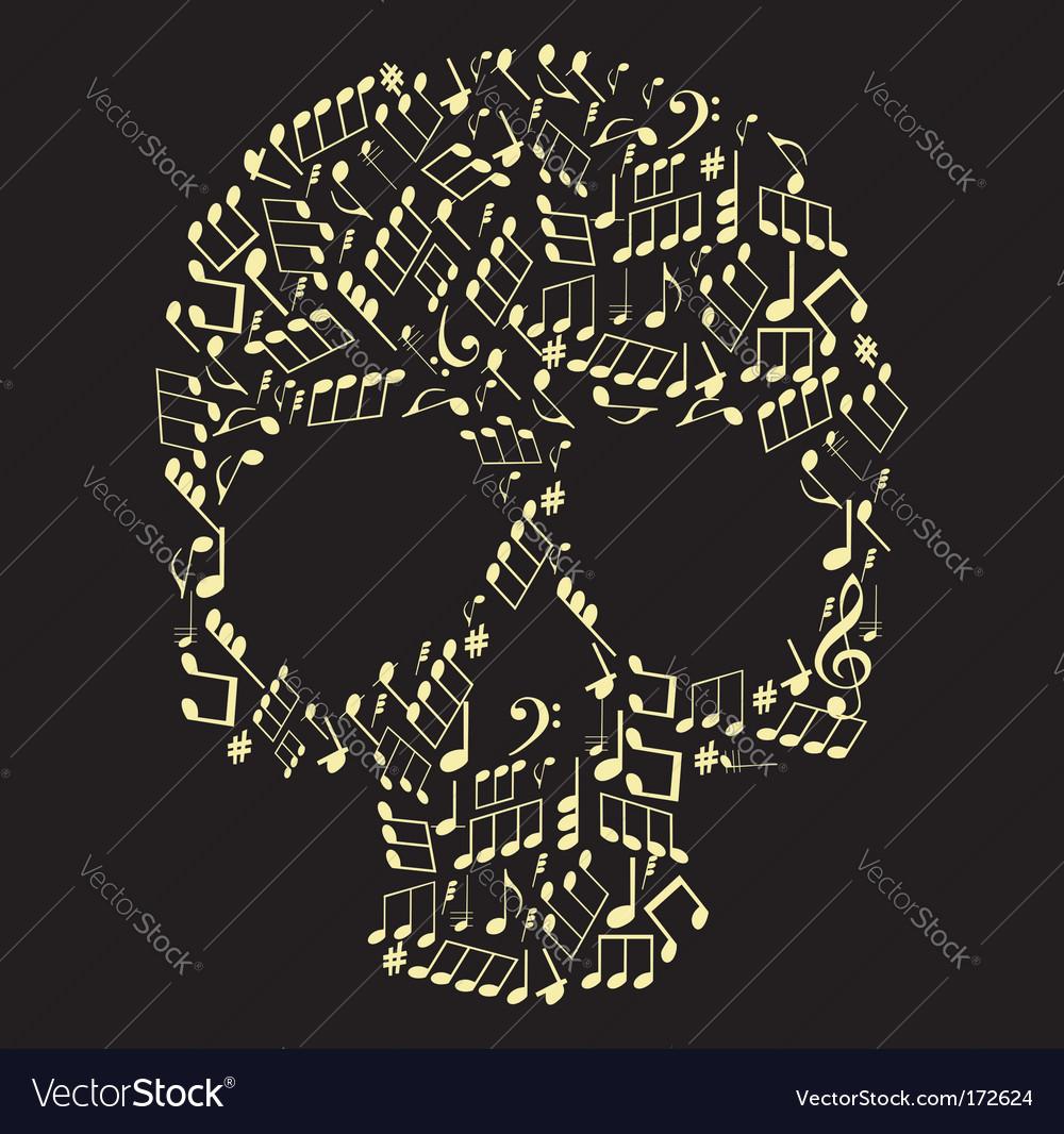Music skull vector