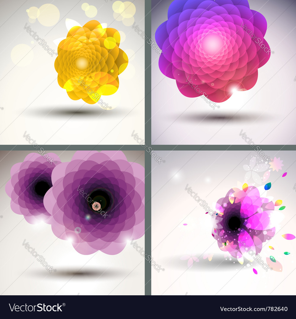 Floral single flower collection vector