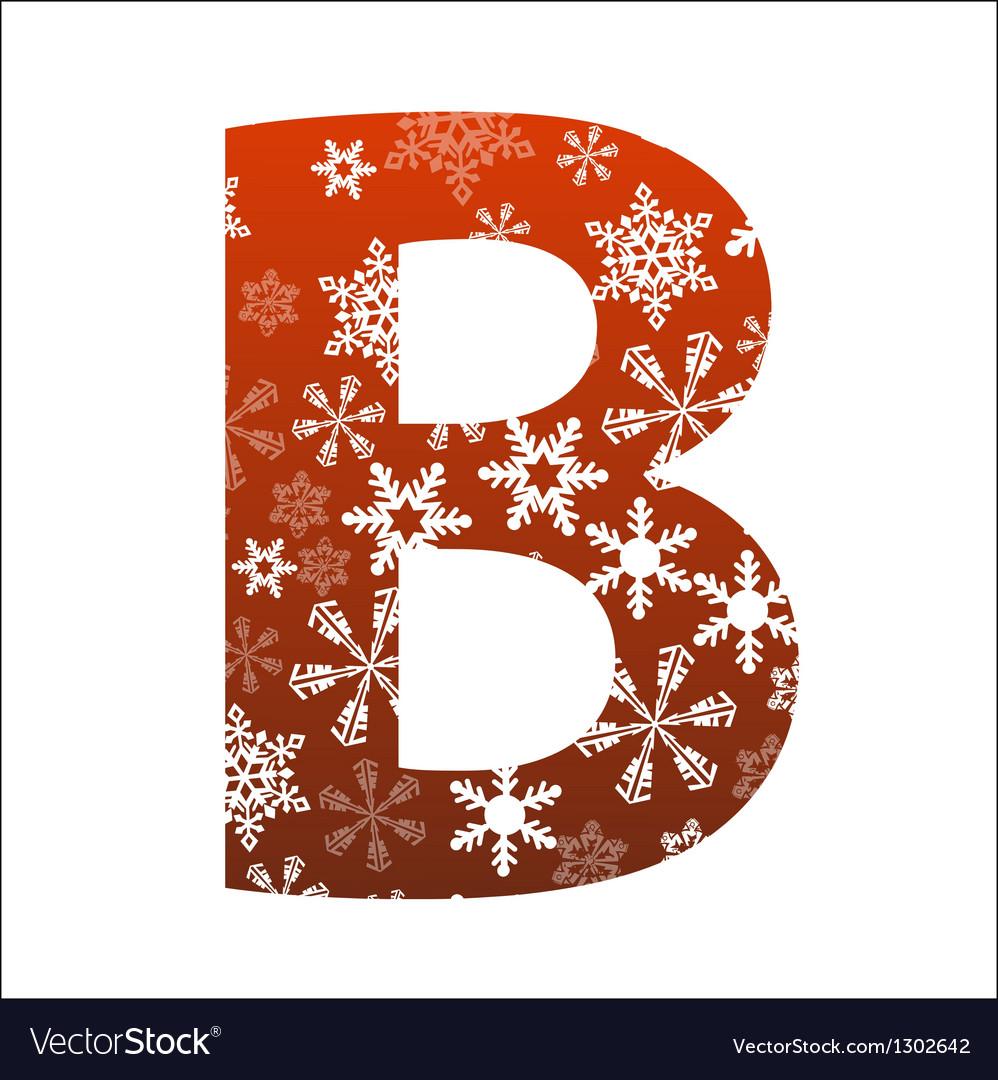 B letter vector