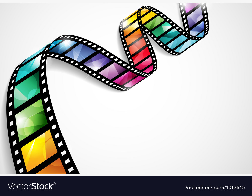 Colorful film strip vector