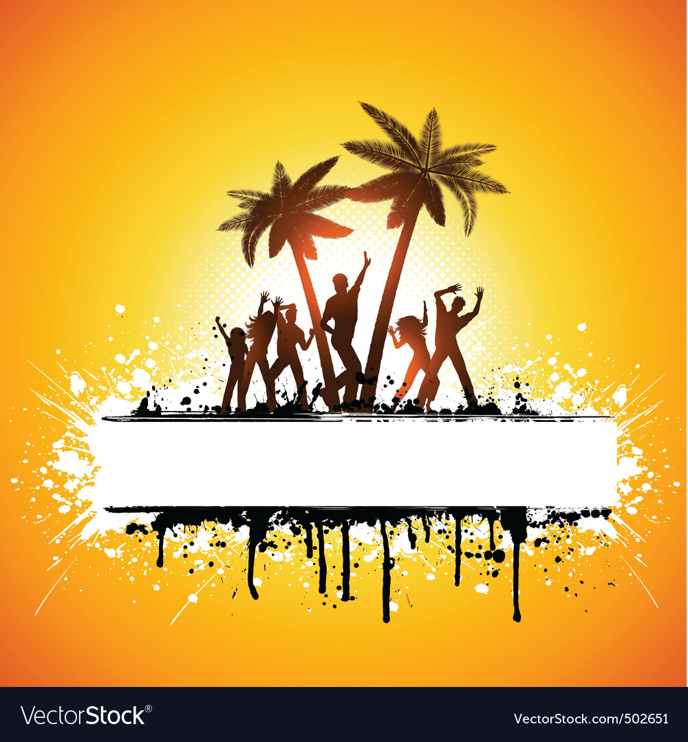 Grunge summer party vector