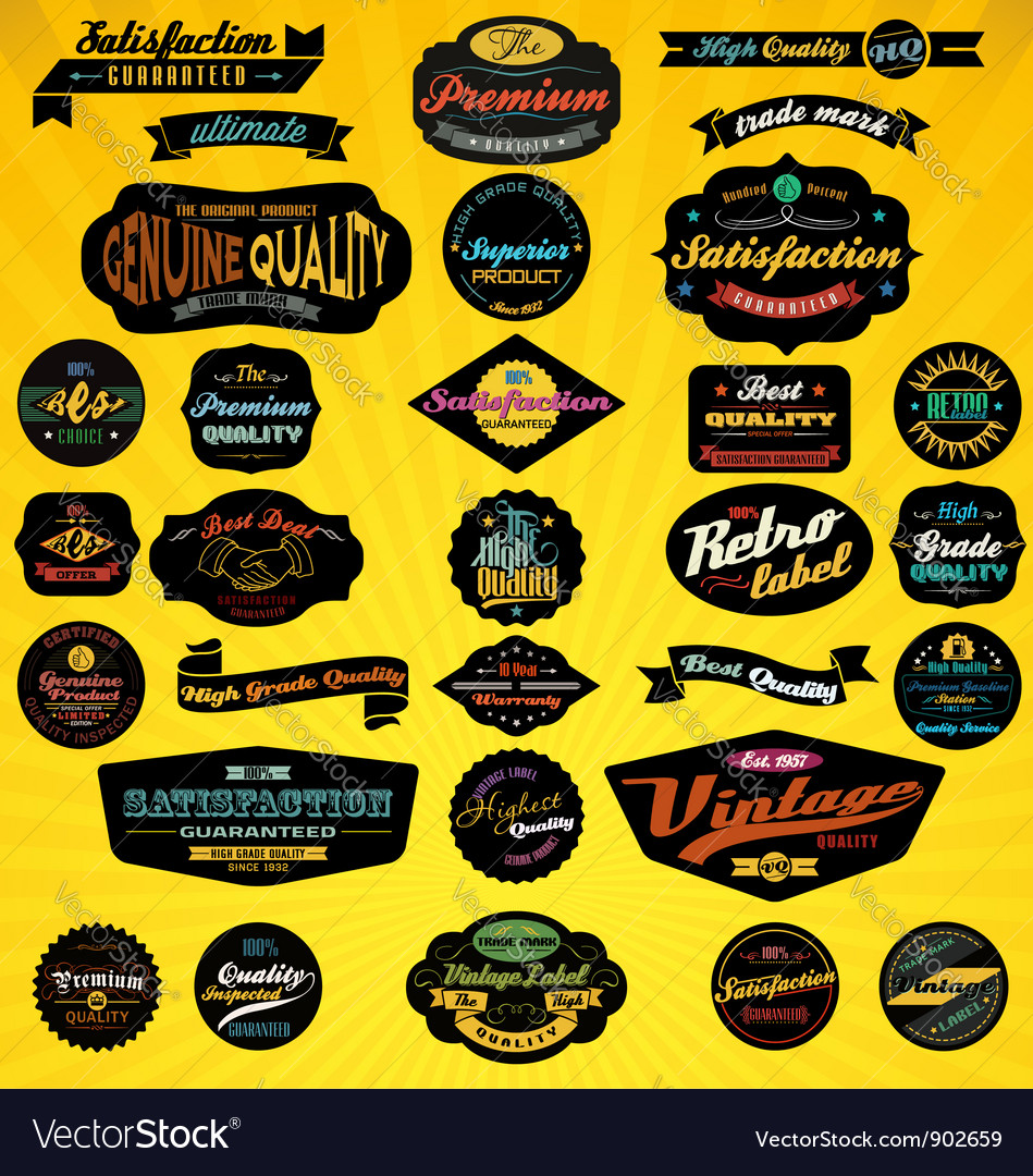 Black label collection vector