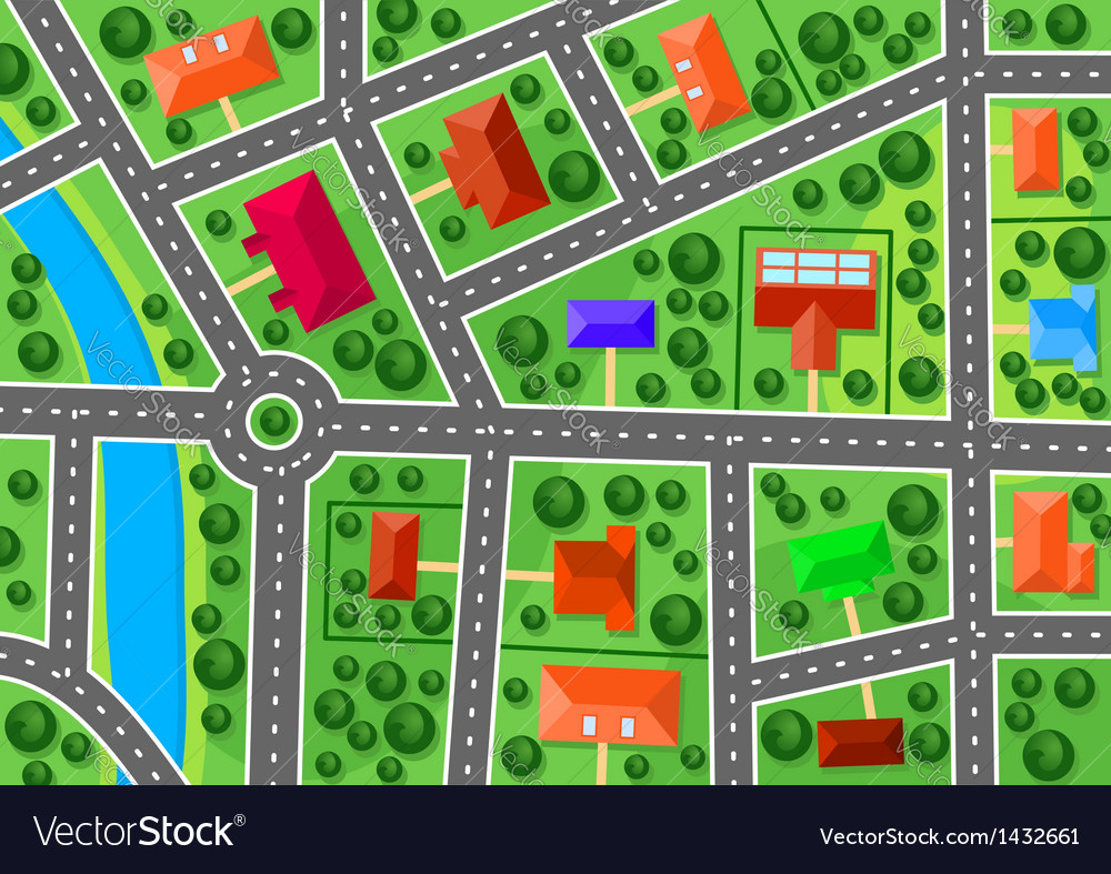 Map of suburb vector