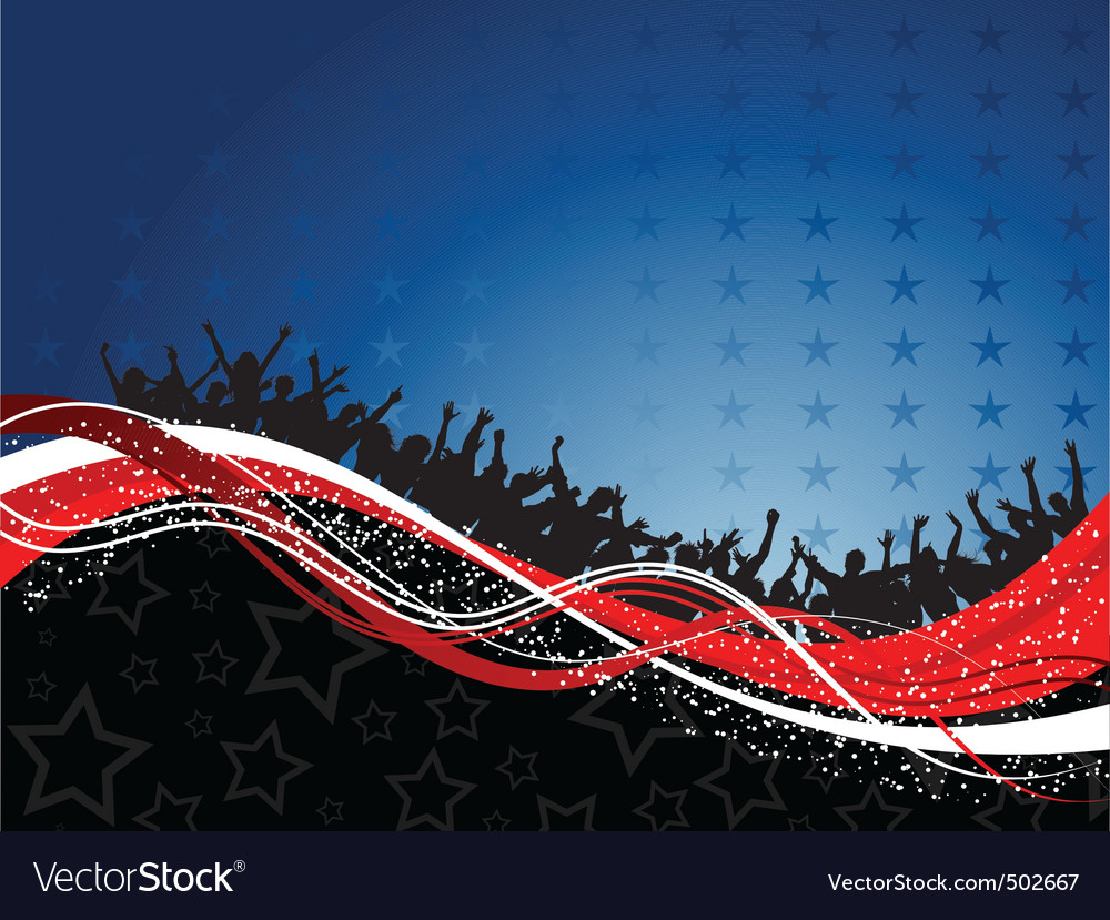 Fourth of july party background vector