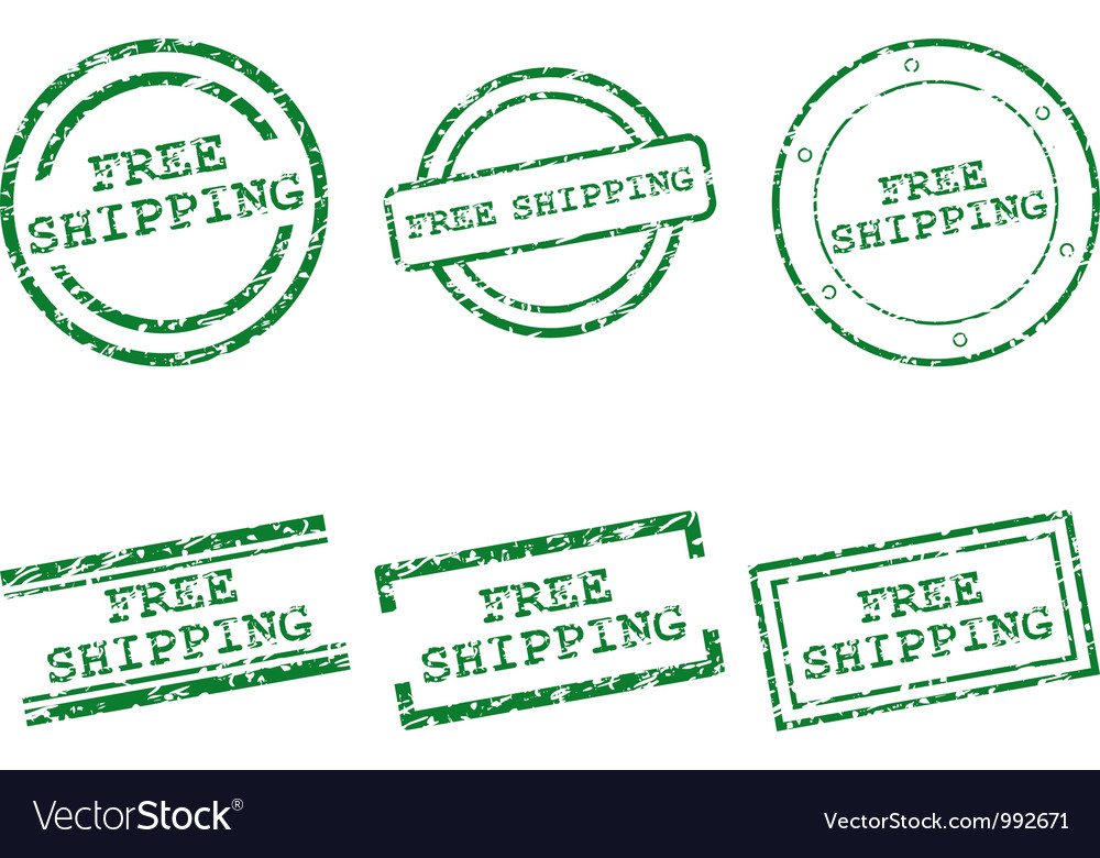 Free shipping stamps vector