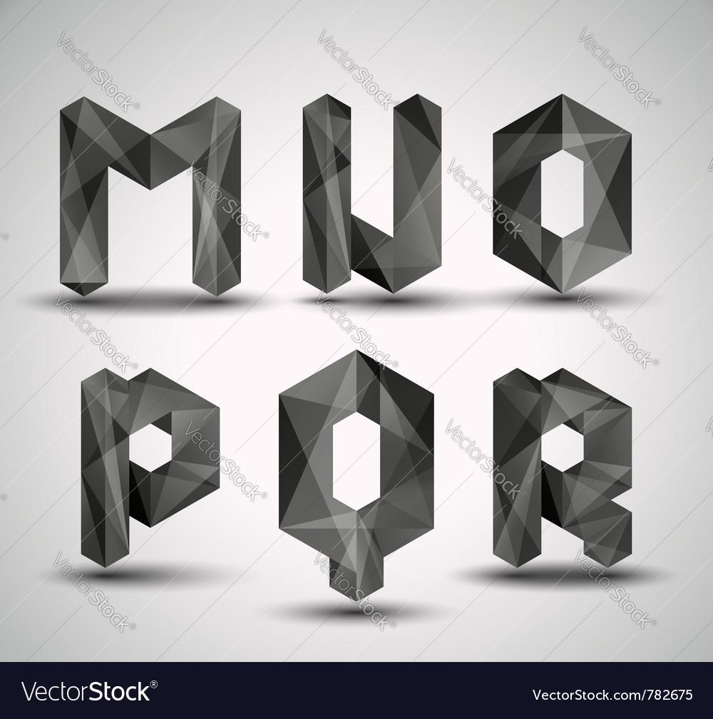 Fractal geometric alphabet vector