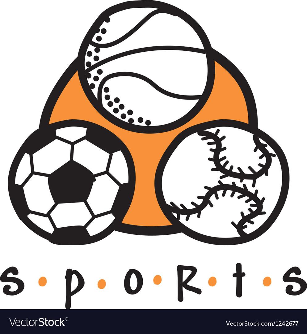 Sports gear logo vector