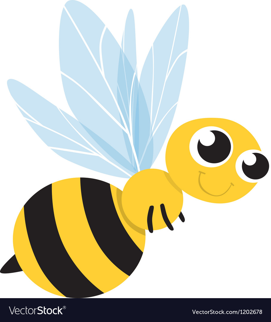 Bee cute cartoon vector